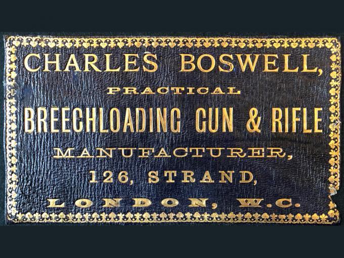 Gun Case Labels: Charles Boswell