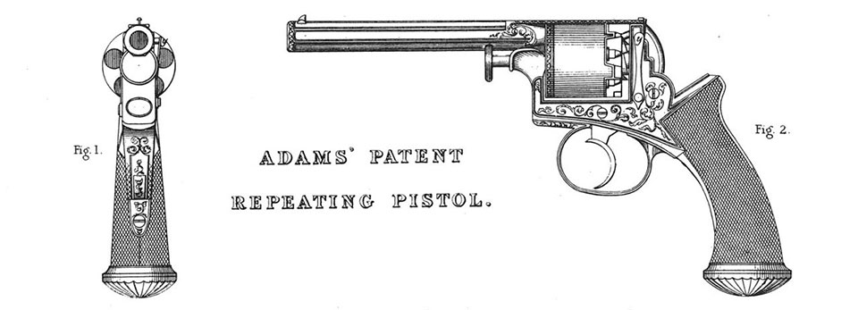 Adams was best known for his double-action revolver patent.
