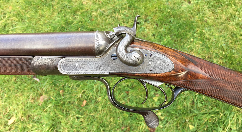 A gun fully restored, at some cost to the dealer, like this Harkom, and offered for sale, has its value undermined if the potential buyer can see that it was bought at auction for considerably less.