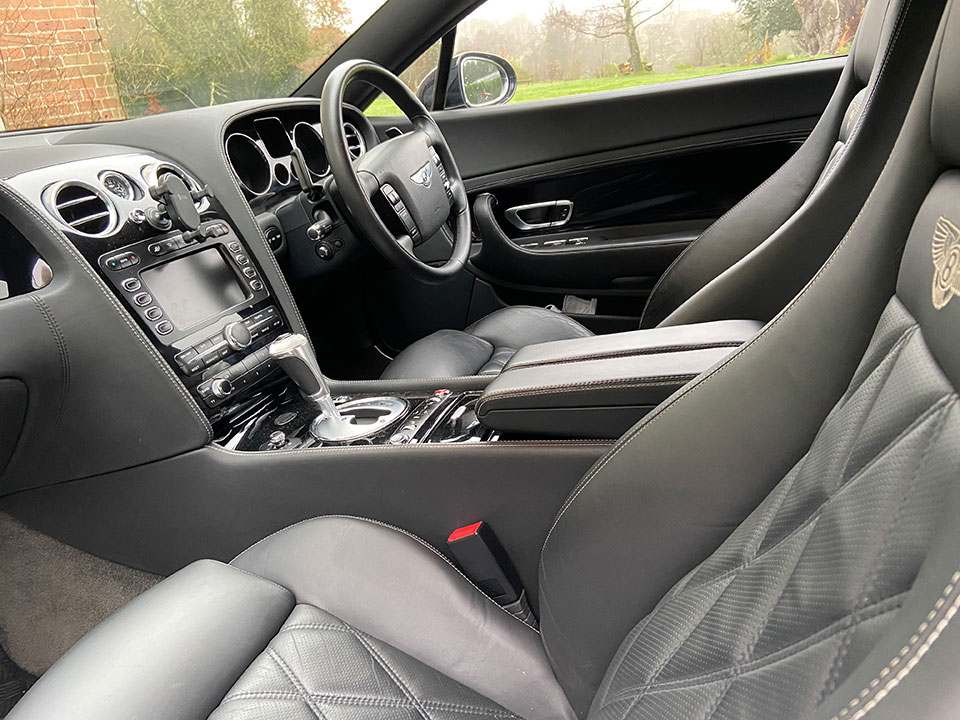 The Mulliner interior is leather-clad and a nice place to be.