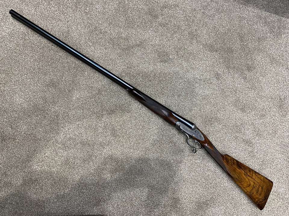 In recent years, Cyril kept this Grant sidelock pigeon gun for his UK competition shooting.It s a sidelockwith 34