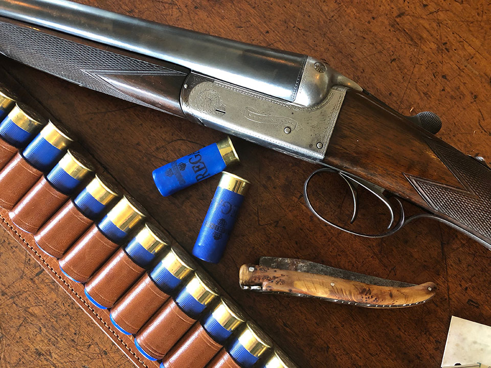"""G.E. Lewis 16-bore. 6lbs 6oz, with 2 3/4"""" chambers."""