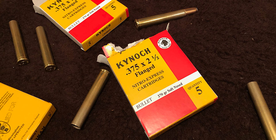 Kynoch .375 Flanged - around £600 for 100 rounds.