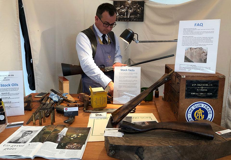 One gunmaker taking orders was J-P Daeschler of John Dickson & Sons.