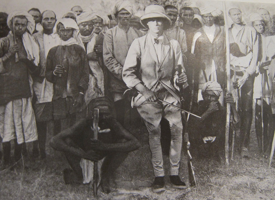 The POW hunting in India in 1921.