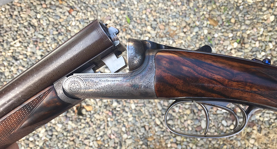 A MacNaughton Round Action with damascus barrels would have increased in value nicely.
