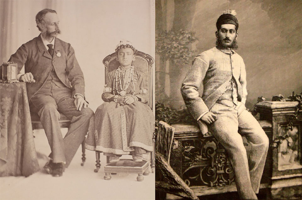 The Nizam of Deccan as a boy and as a young man.