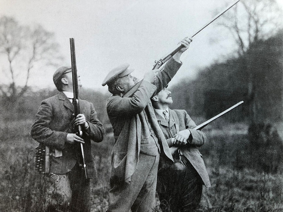 Ripon shooting with a trio of back-action Purdey hammer guns.
