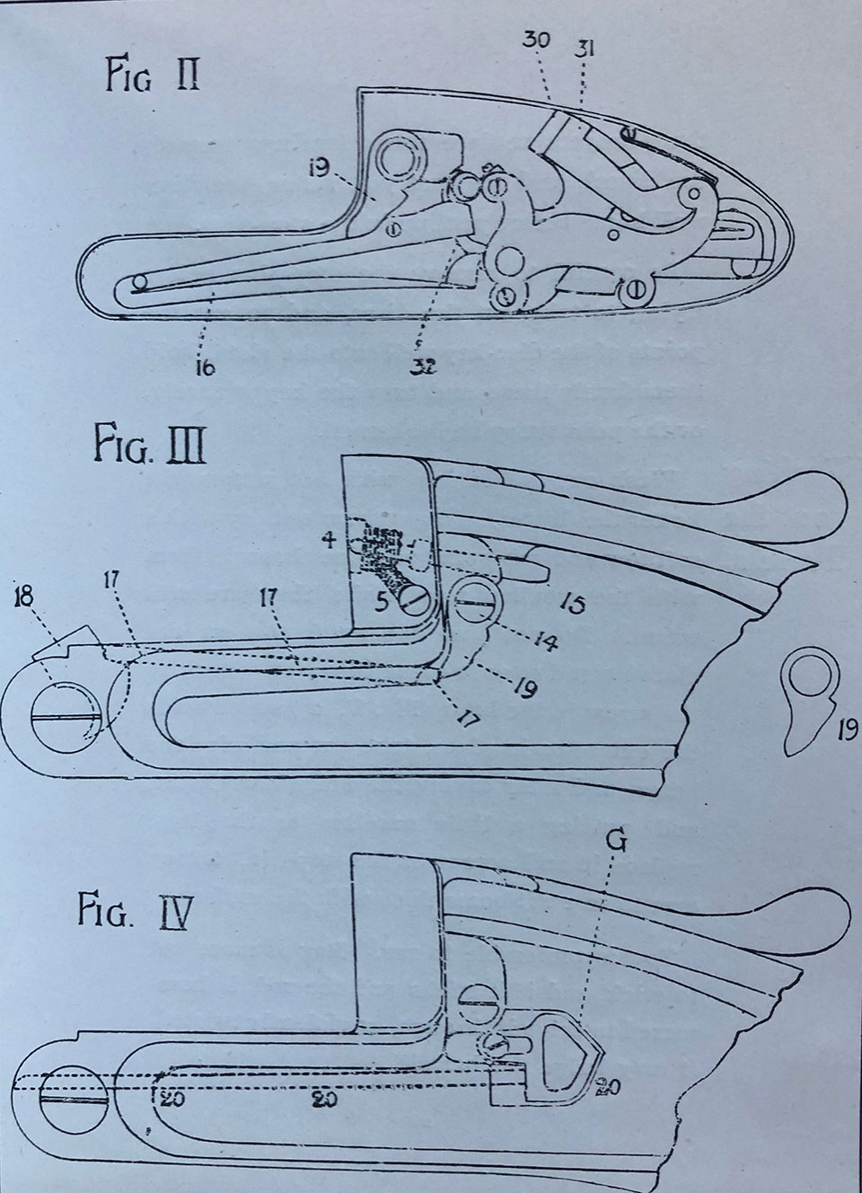 Figures 2, 3 and 4. Internal parts.