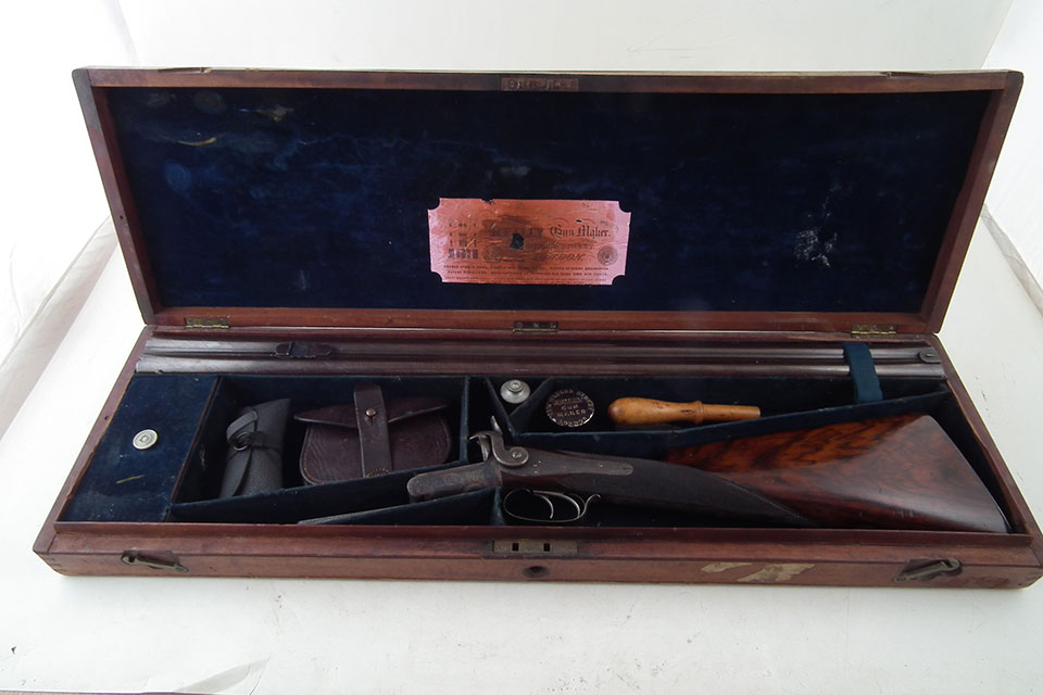 Rifle and case appear original and correct. The sanscrit witing on the exterior suggests it spent time in Asia.