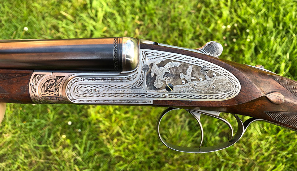 A.A. Brown barrel cocking sidelock (Holland type)