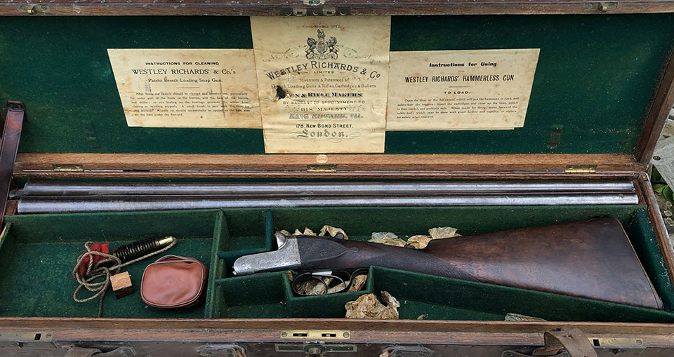 The earlier gun arrived cased, after siting in an attic for two generations.