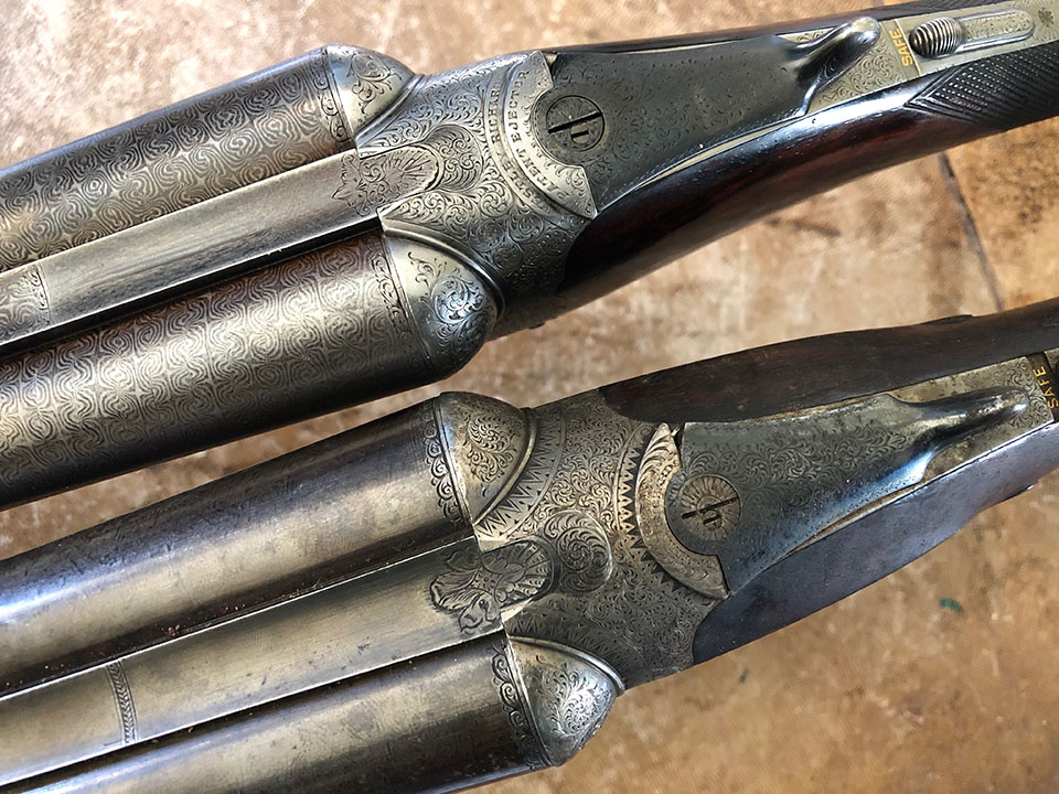 Both feature the Westley Richards patent doll's head and top-lever with sliding bolt.