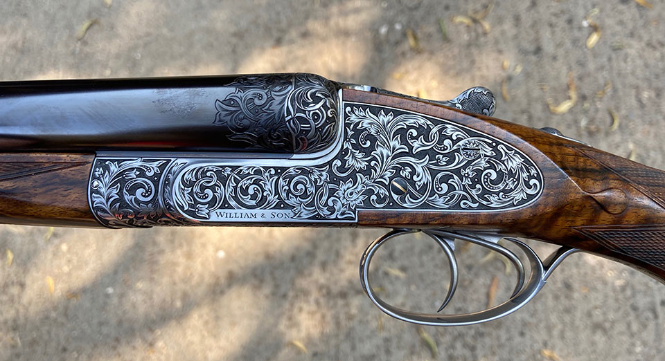 A high pheasant gun in 12-bore.