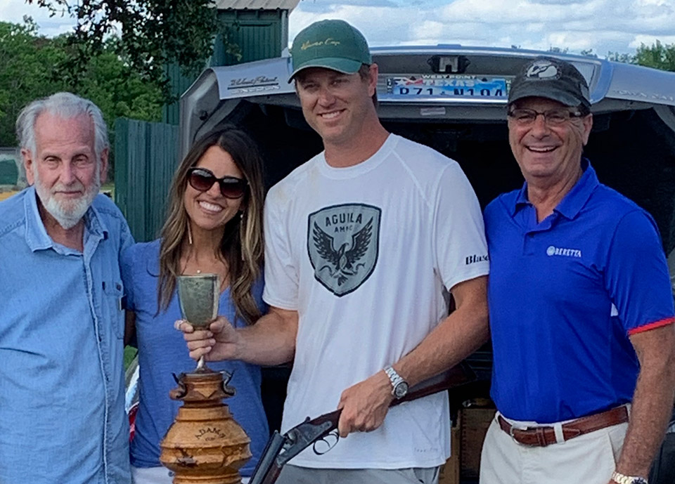 Cory Kruse won the 2019 Adams Cup. Cyril Adams is on the left of your picture.