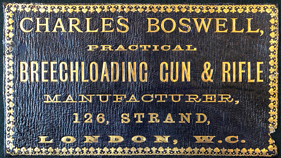 The label of Charles Boswell