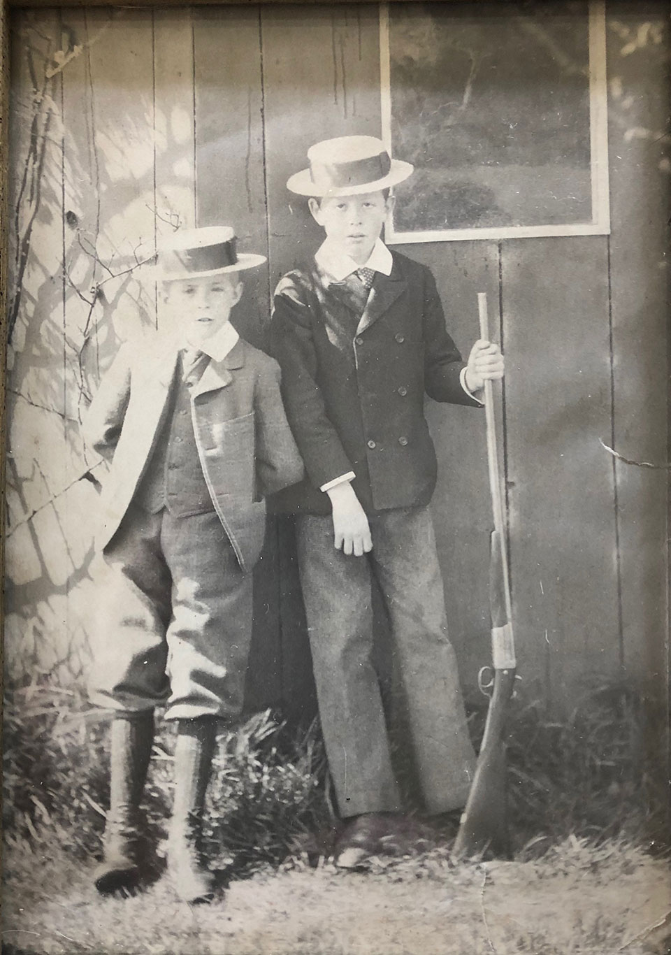 The Editor's grandfather and great uncle in teh early 1920s, in Ireland.