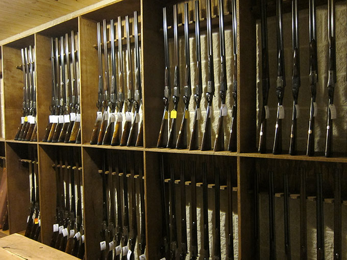 Store your guns safely and securely with vintage guns