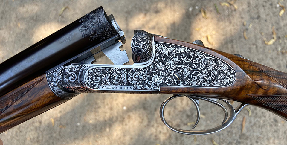 A new William & Son 12-bore sidelock ejector.