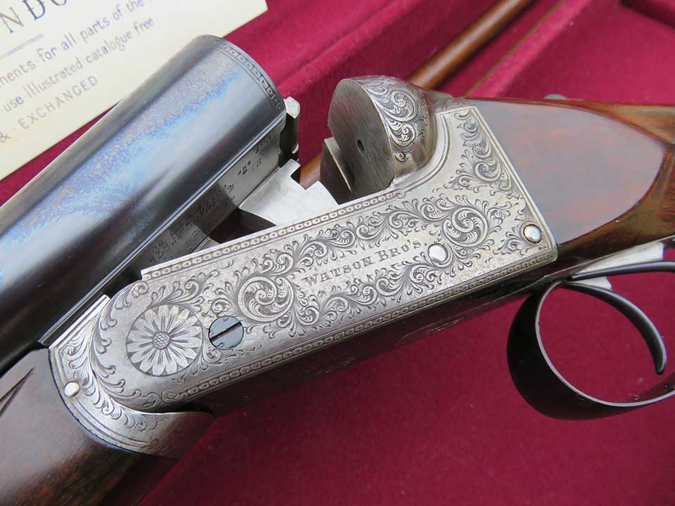 Watson Brois specialised in small bores. This is a 20-bore boxlock ejector.
