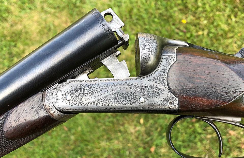 A Jeffery gun built on a Webley action.